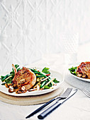 Maple and mustard pork cutlets with apple salad