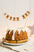 A festive gingerbread Bundt cake