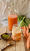 Havij Bastani (carrot juice floats, Persia)