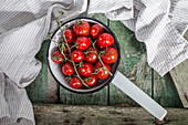 Tomatoes in a saucepan