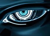 Cyborg eye, conceptual illustration