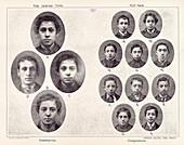 Galton's eugenics, Jewish portraits, 1870s