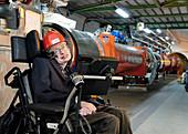 Stephen Hawking, British physicist, visiting CERN in 2006