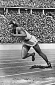 Jesse Owens in 200 metre race, 1936 Olympics