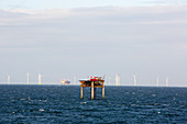 Walney Offshore Wind Farm and Morecambe Bay gas field, UK