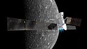 BepiColombo spacecraft at Mercury, illustration