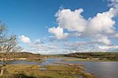 Saline lagoon, Dale, Wales, UK