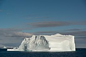 Very large icebergs in Scoresby Sund, Greenland