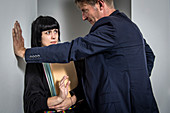 Sexual harassment at work, conceptual image