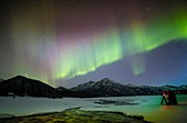 Lone photographer and the Aurora, Alaska