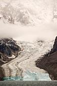 Glacier flowing into Scoresby Sund fjord, Greenland