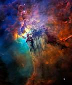 Lagoon nebula, HST image