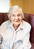Centenarian care home resident