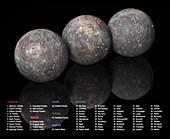 Surface features of Mercury, illustration