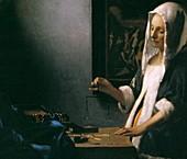 Vermeer's Woman with Balance