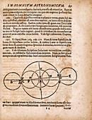 Page from Kepler's 'Somnium' novel, 1634