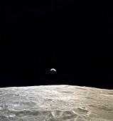 Earthrise during Apollo 12, 1969