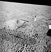 Apollo 12 flag, footprints and shadows, 1969