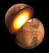 Interior of Mars, illustration