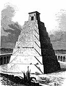 Mexican pyramid, 19th Century illustration