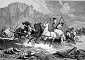Atlantean warriors, 19th Century illustration