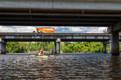 Environmental kayak tour of Louisiana swamp, USA