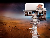 Mars 2020 rover camera mast, illustration