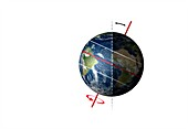 Earth's axial tilt and tropics, illustration
