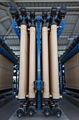 Microfiltration at water treatment facility, California, USA