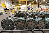 Polyester cord in tyre factory, UK