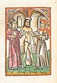 Medical consultation, 15th century