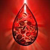 Hemophilia, conceptual illustration