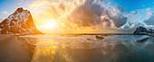 Sunrise over Arctic Sea