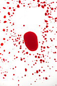 Blood on white surface