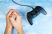 Resisting video game addiction, conceptual image