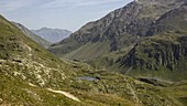 Hikers in the Bernina Pass, Swiss Alps, time-lapse footage