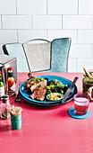 Rib Eye Steak mit Misobutter und grünem Kimchi