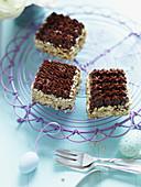 Schokoladen-Nuss-Schnitten zu Ostern