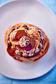 Religieuse au chocolat (French choux pastry)