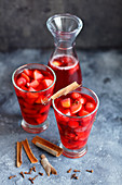 Strawberry and apple compote