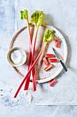 Still life of Rhubarb