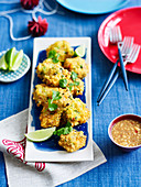 Vietnamese Prawn cakes with dipping sauce