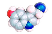 Serotonin molecule, illustration