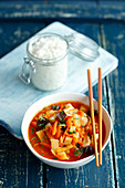 Sweet and sour chicken (China)