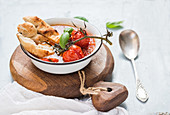 Pappa al Pomodoro (Italian tomato, garlic and basil soup)