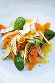 Caribbean carrot and coconut salad with an orange dressing