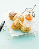 Puff pastry jam tarts