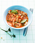 Shrimp stew with limes and spring onions