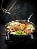Budae Jjigae (army soup, Korea)