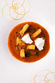 San Marzano tomato soup with ciabatta crisps